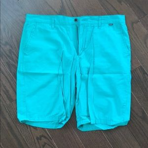 Men's Hurley turquoise shorts